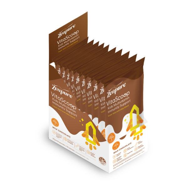 Kids Multivitamin Immunity Support Milk Chocolate Sachet Box
